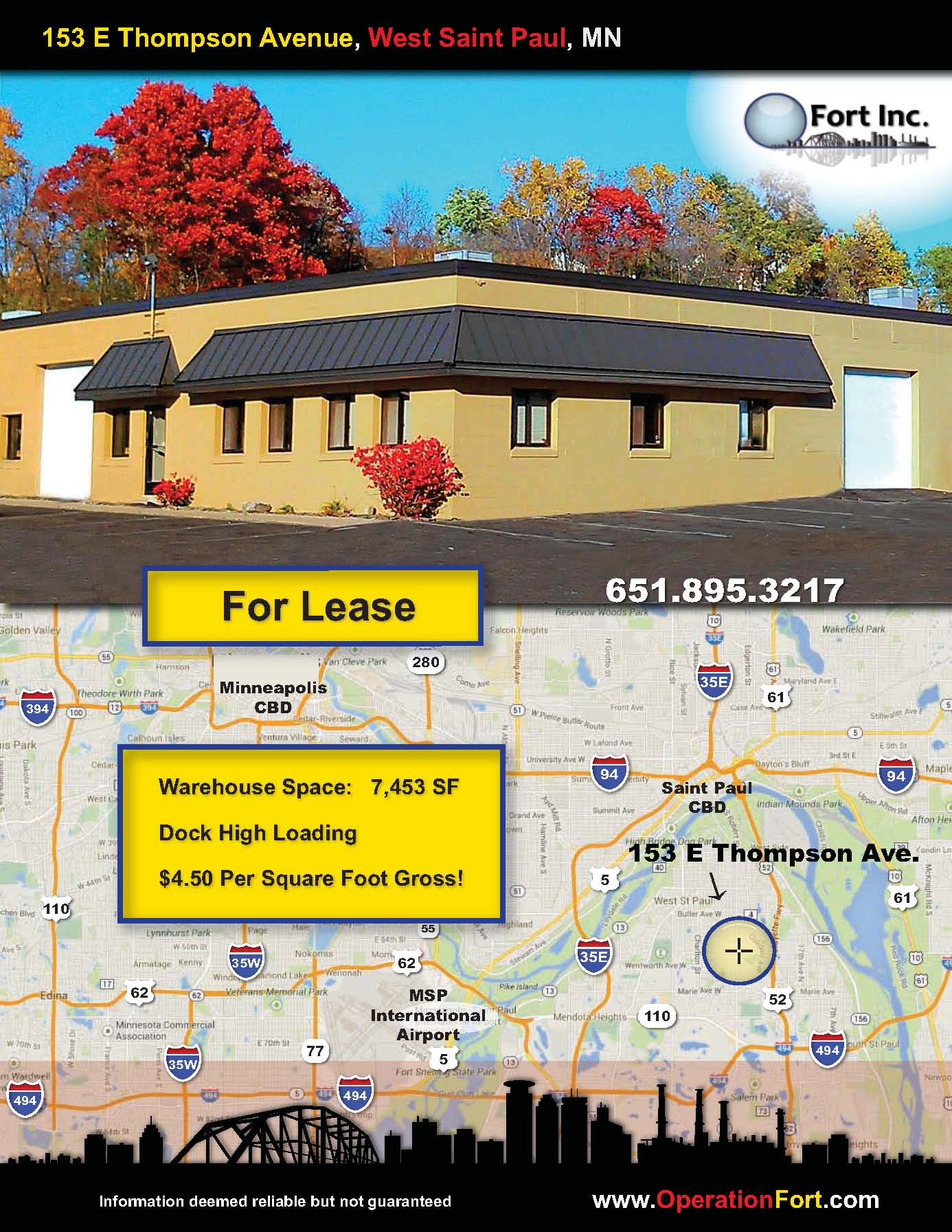 Warehouse Space For Lease in West St. Paul