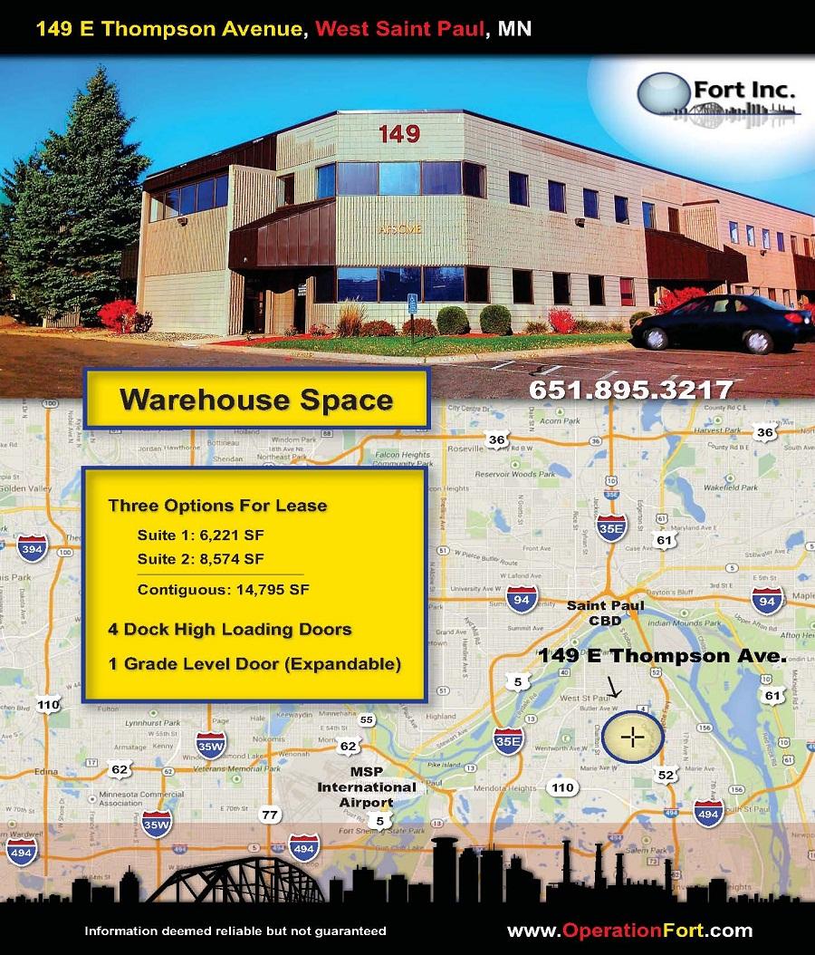 149 E Thompson West St. Paul Warehouse For Lease